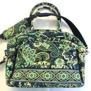 Vera Bradley Iconic Green  Weekender Travel Bag